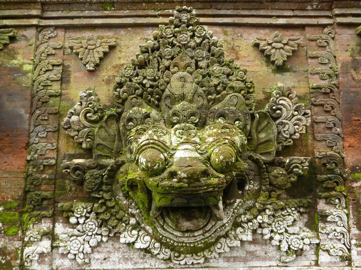 Bhoma carving from Puri Saren Agung, Ubud, Bali