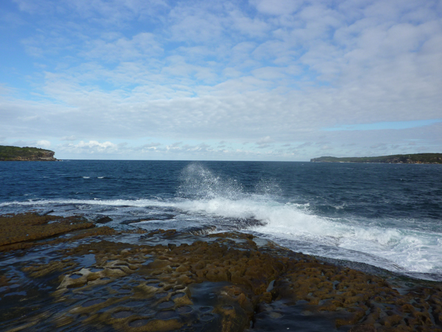 Botany Bay heads, Cape Banks and Cape Solander, from Bare Island