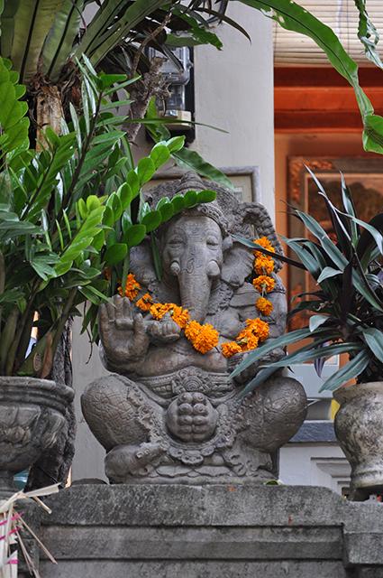 Ganesha wreathed in Marigolds
