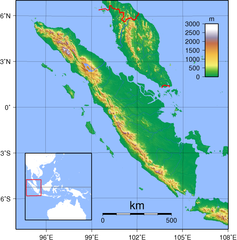 Sumatra Topography. (CCL. AuthorSadalmelik)