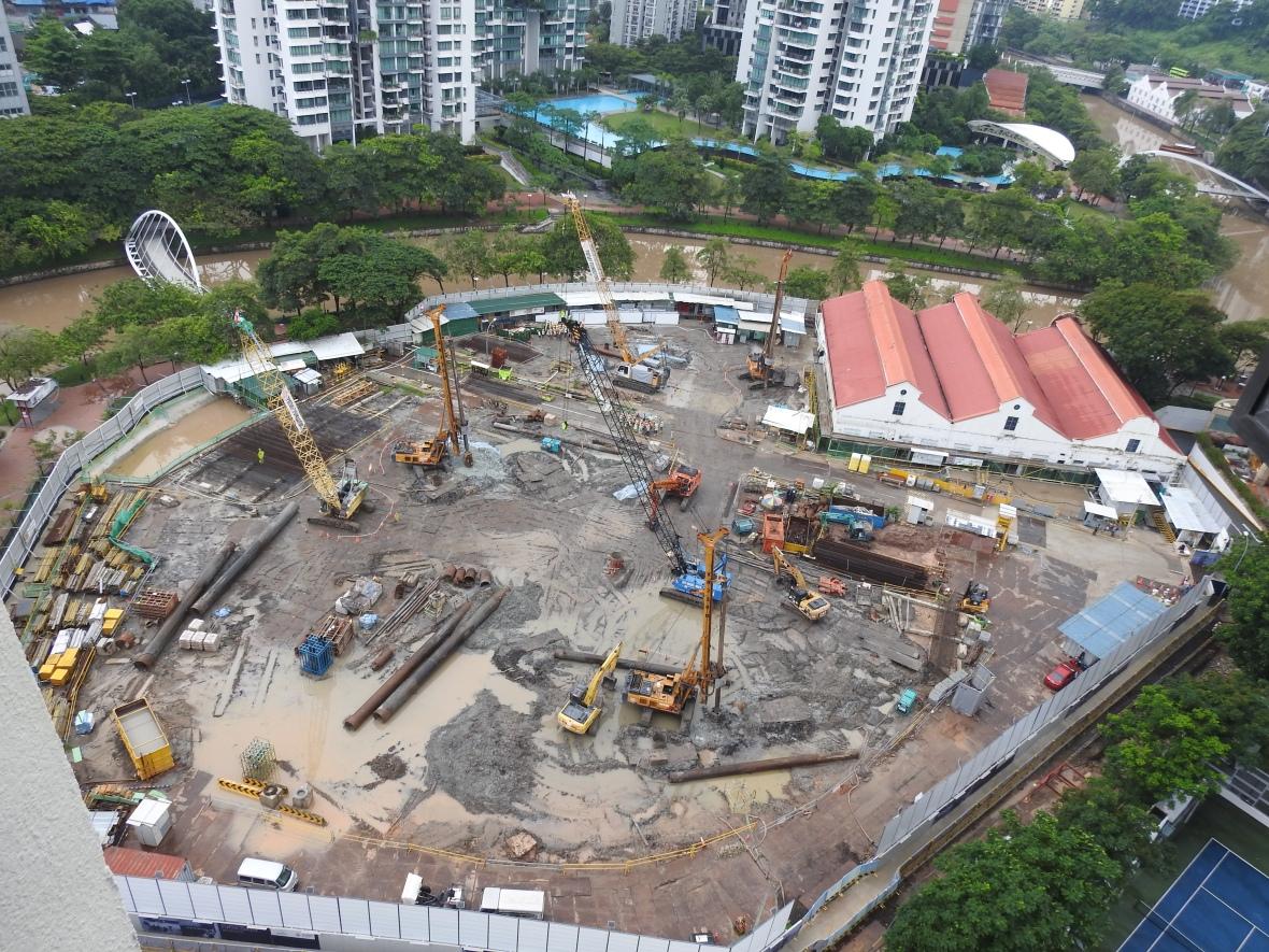 The building site at Jiak Kim Road